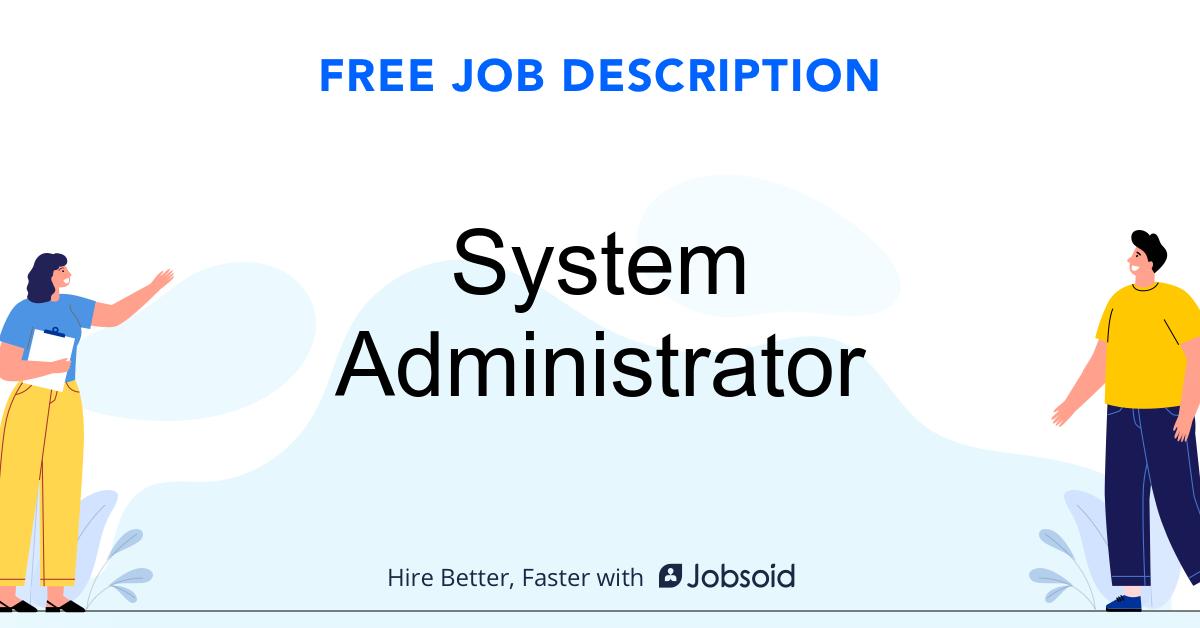 System Administrator Job Description - Image