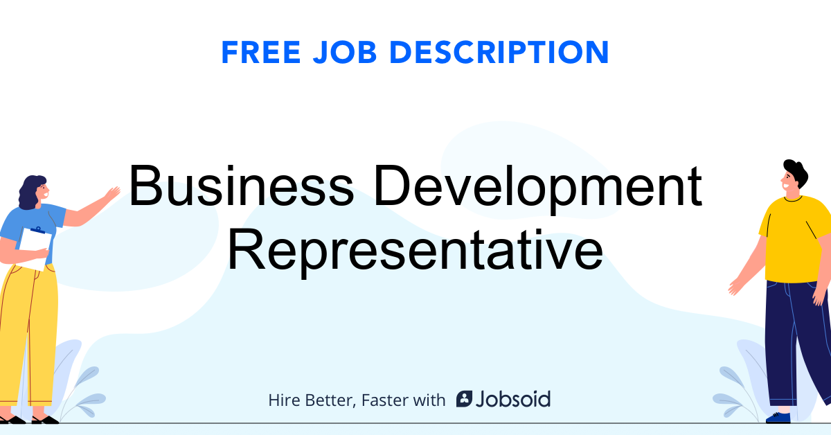 Business Development Representative Job Description - Image