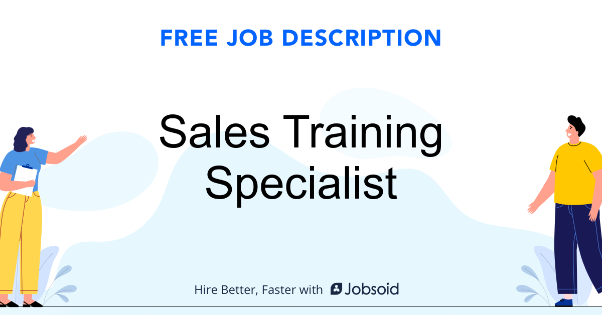 Sales Training Specialist Job Description - Image