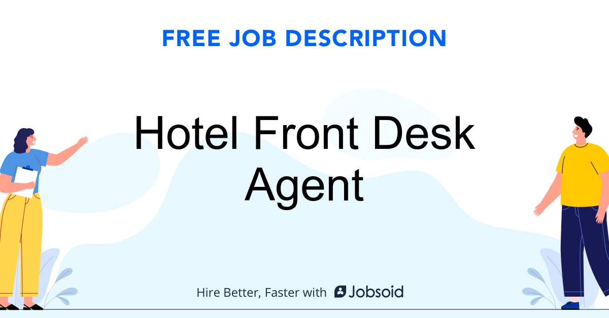 Hotel Front Desk Agent Job Description - Image
