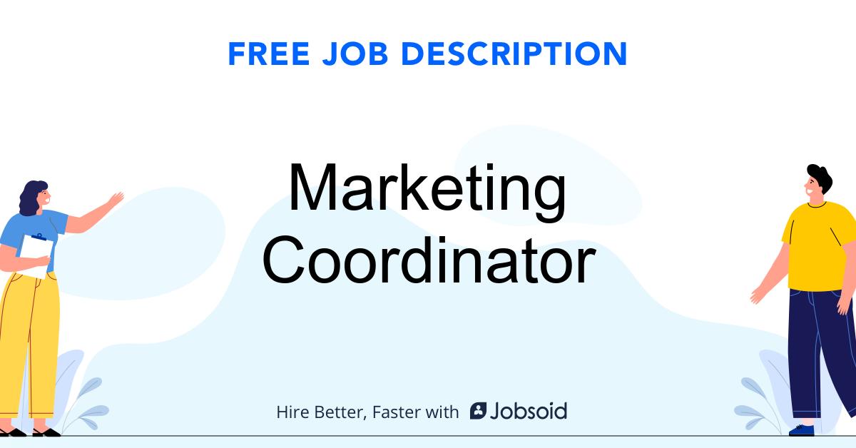 Marketing Coordinator Job Description - Image