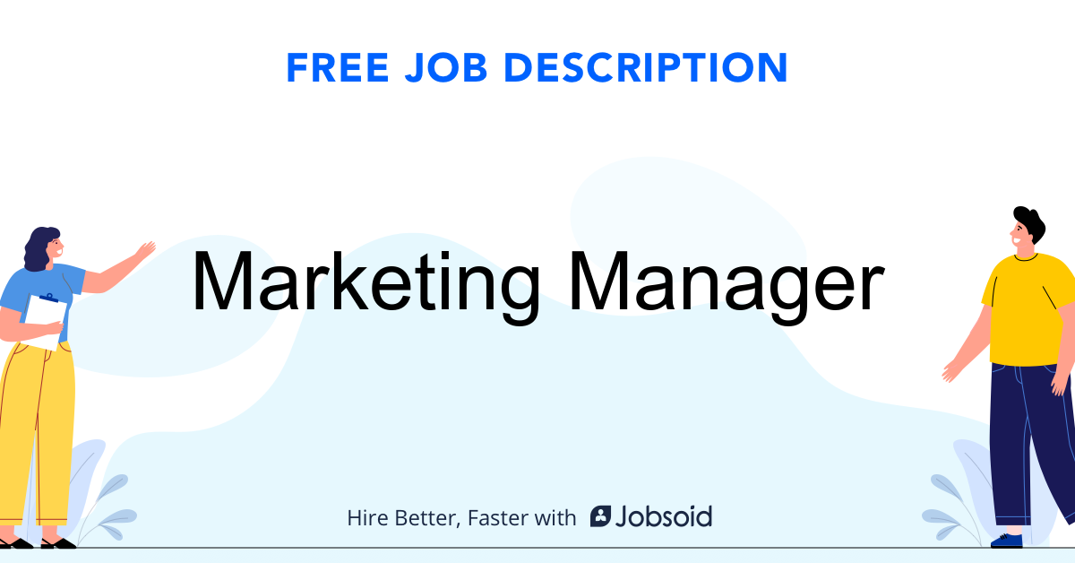 Marketing Manager Job Description - Image