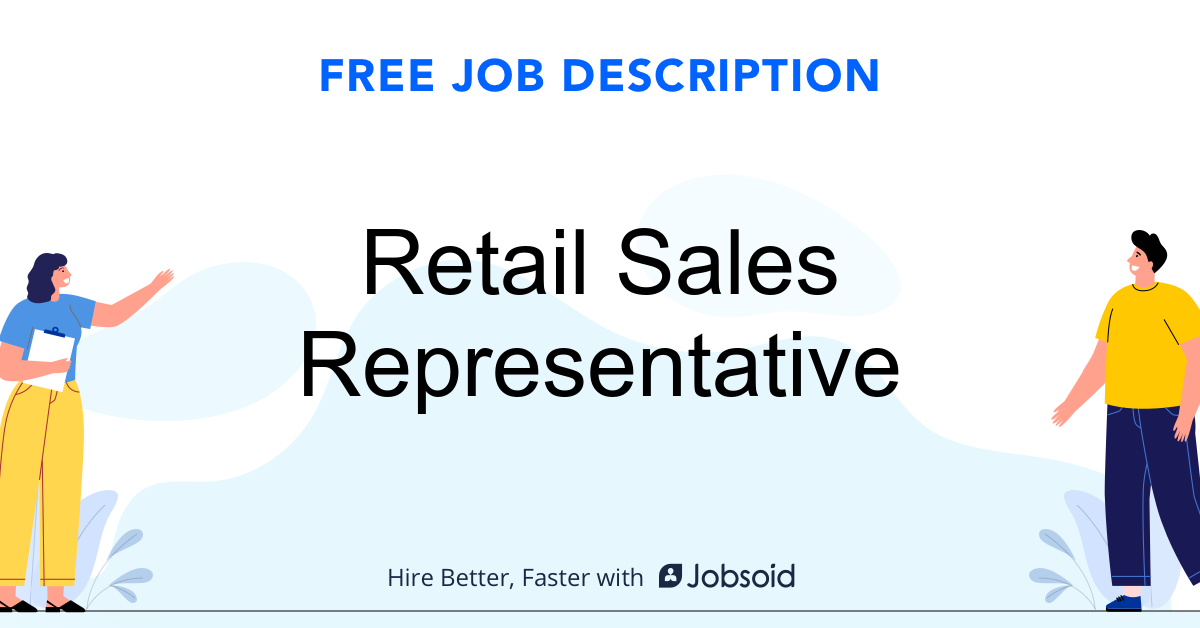 Retail Sales Representative Job Description - Image