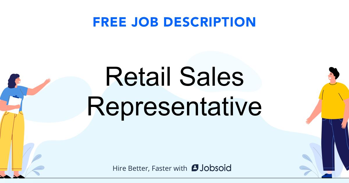 Retail Sales Representative Job Description - Image