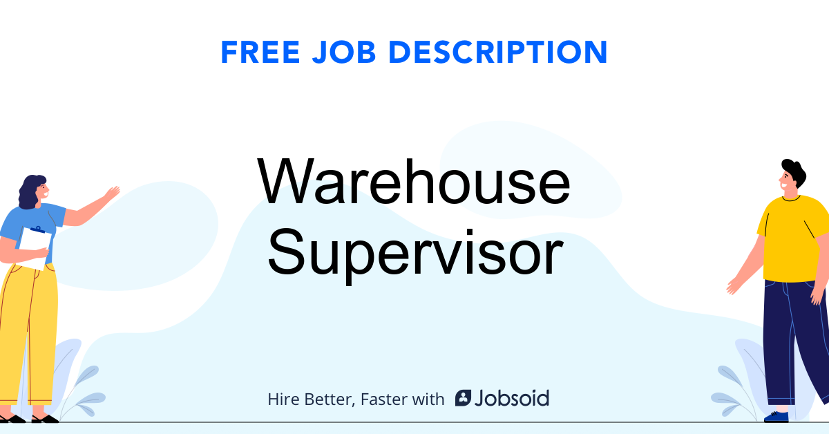 Warehouse Supervisor Job Description - Image