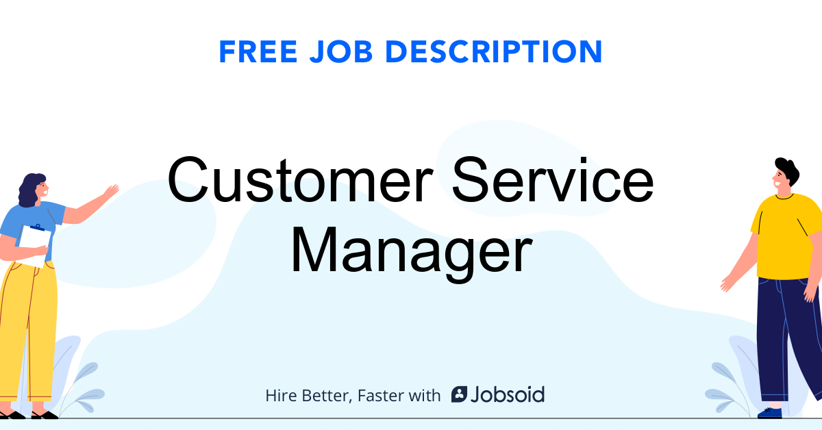 Customer Service Manager Job Description - Image