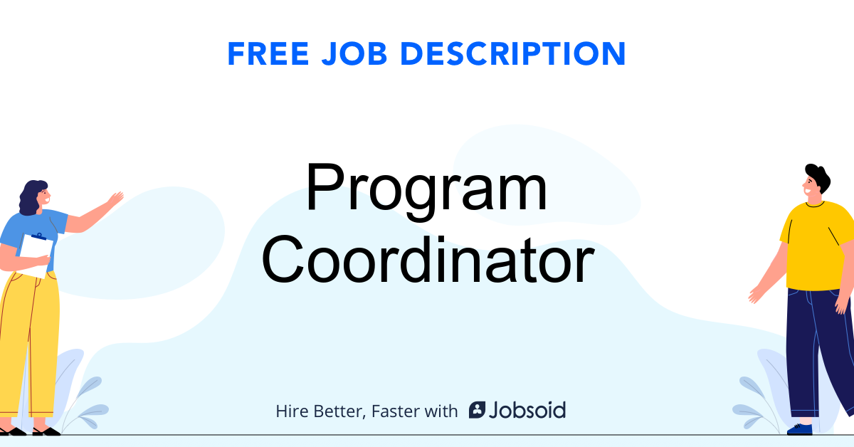 Program Coordinator Job Description - Image