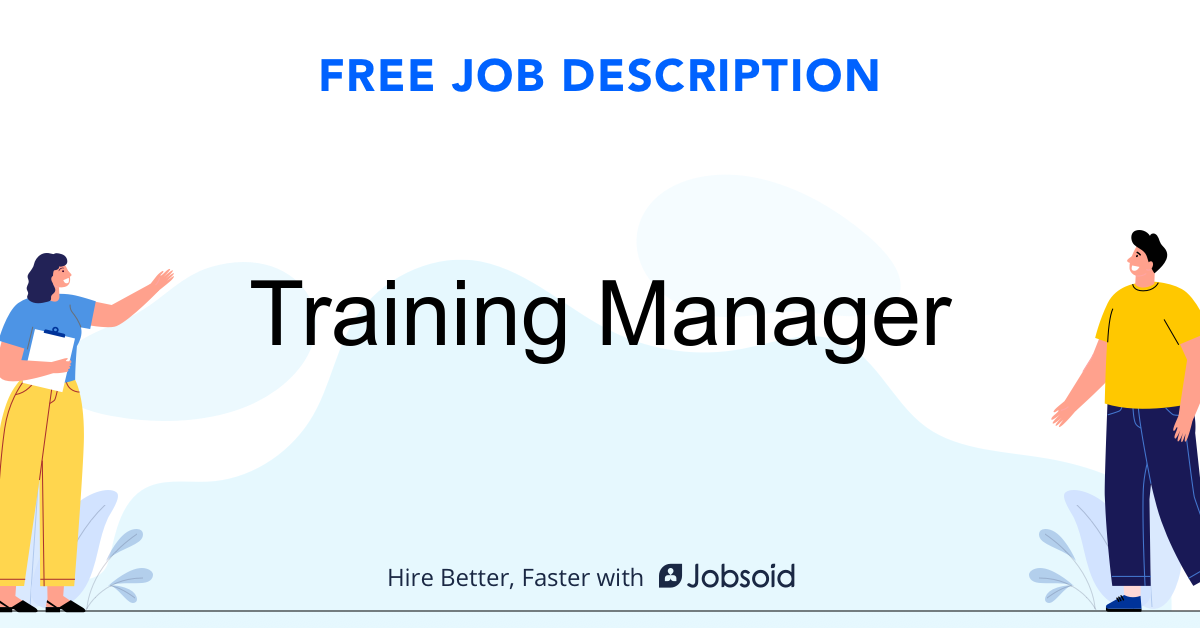 Training Manager Job Description - Image