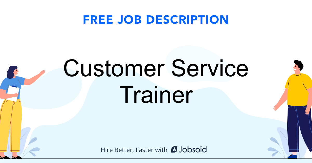 Customer Service Trainer Job Description - Image