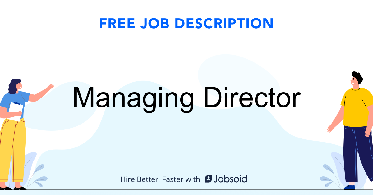Managing Director Job Description - Image