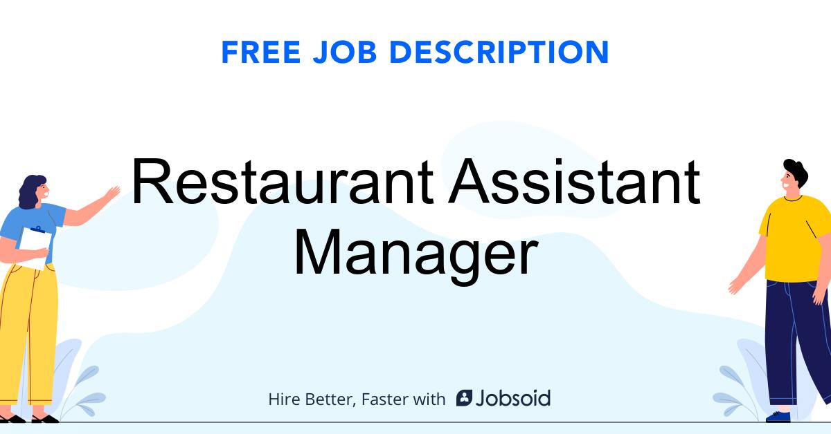 Restaurant Assistant Manager Job Description - Image