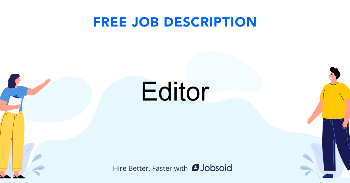 Editor Job Description - Image