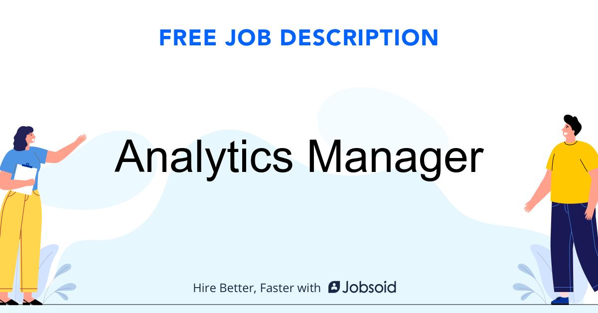 Analytics Manager Job Description - Image