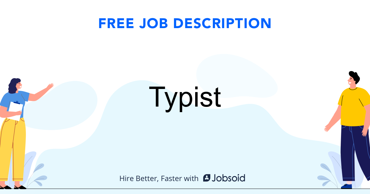 Typist Job Description - Image