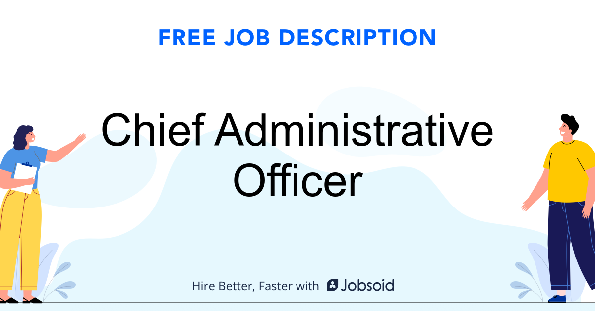 Chief Administrative Officer Job Description - Image