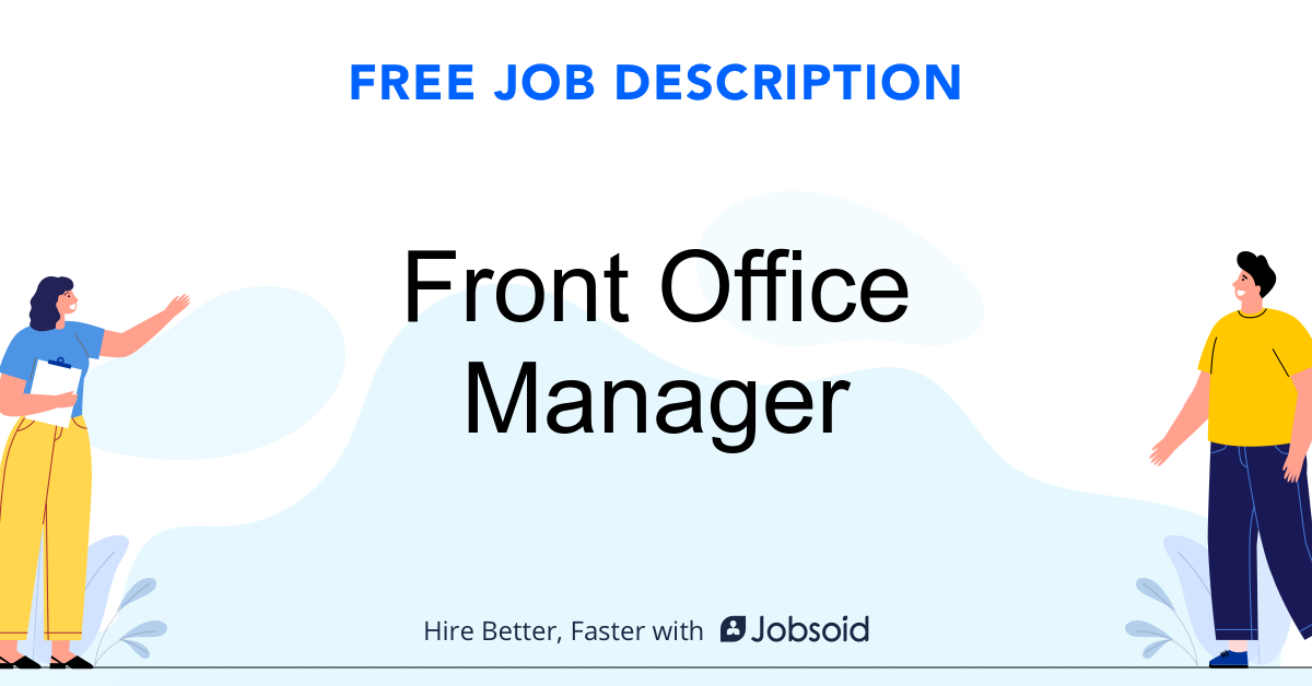Front Office Manager Job Description - Image