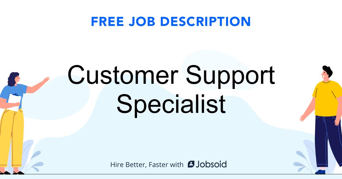 Customer Support Specialist Job Description - Image