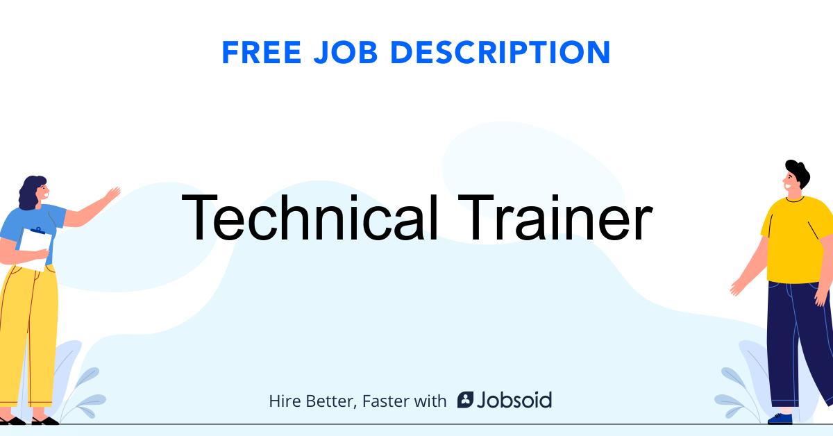 Technical Trainer Job Description - Image