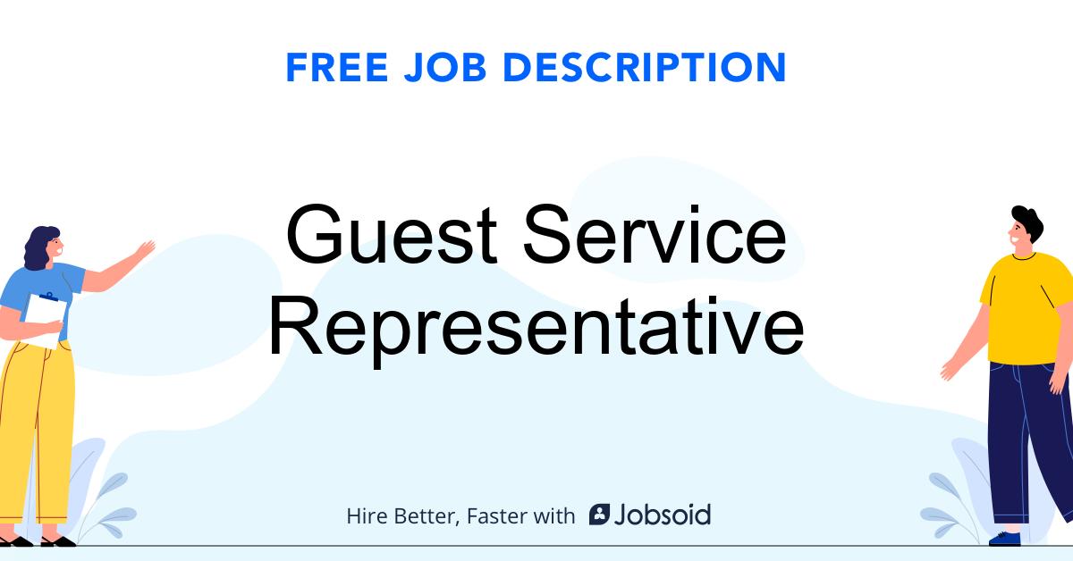 Guest Service Representative Job Description - Image