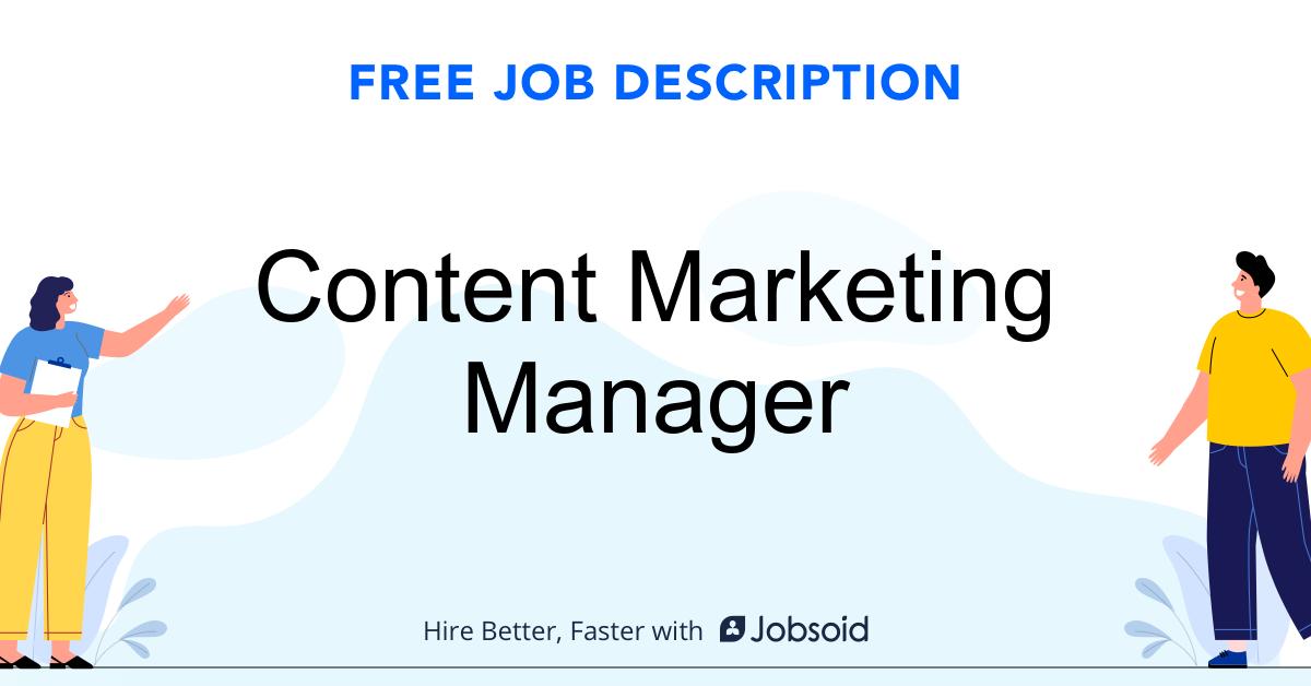 Content Marketing Manager Job Description - Image