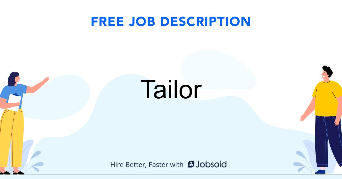 Tailor Job Description - Image