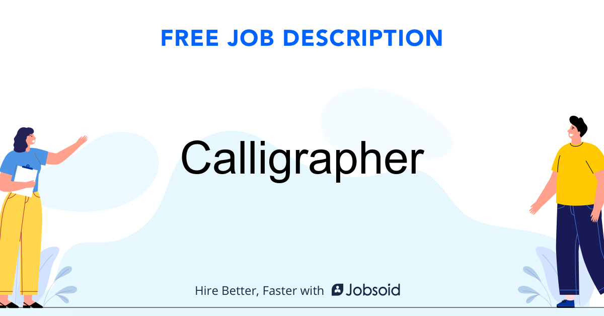 Calligrapher Job Description - Image