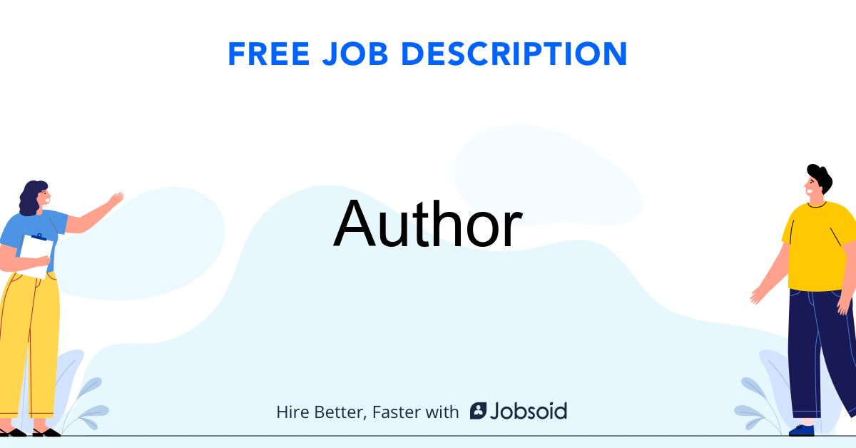Author Job Description - Image