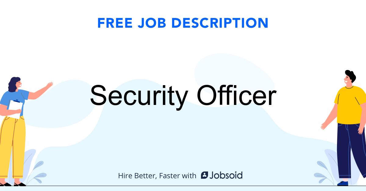 Security Officer Job Description - Image