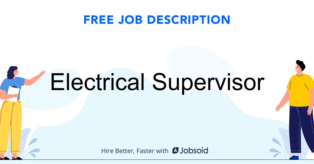 Electrical Supervisor Job Description - Image