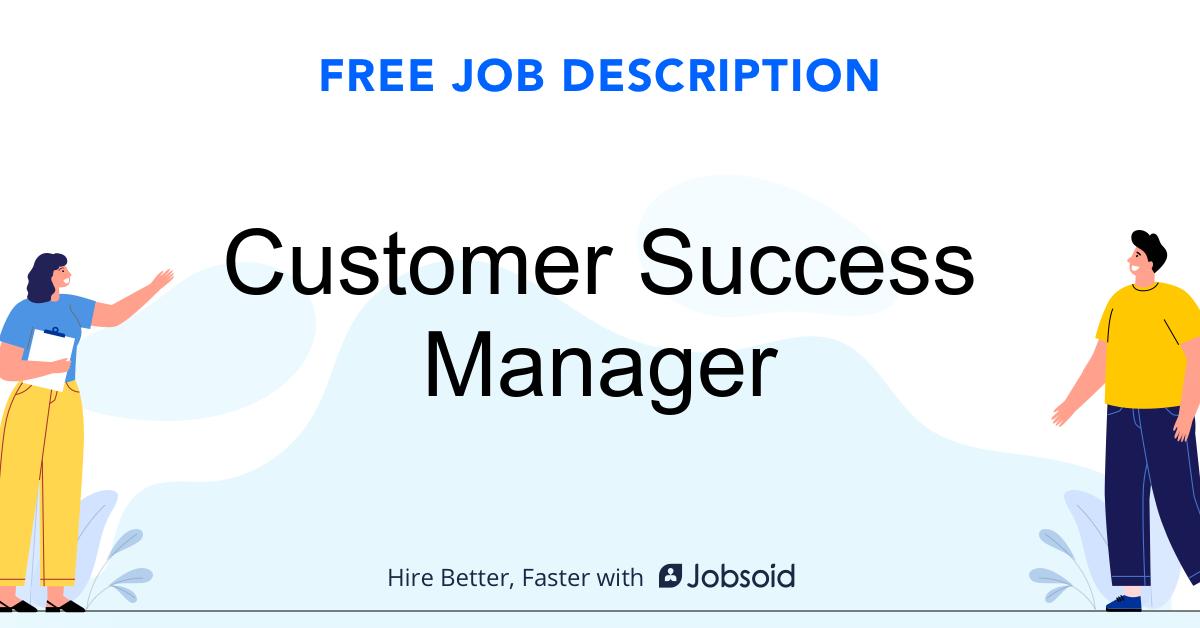 Customer Success Manager Job Description - Image