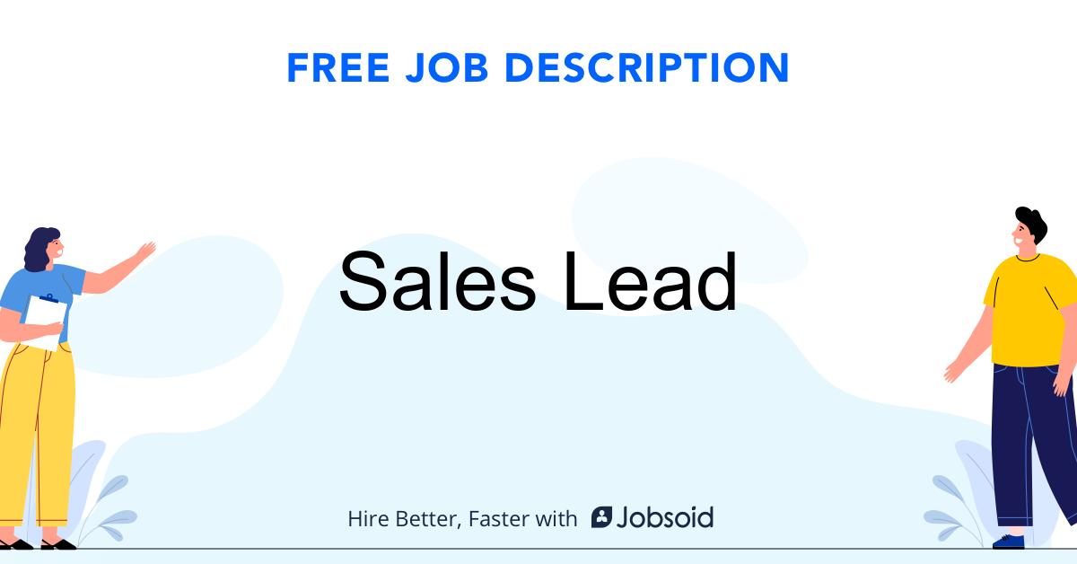 Sales Lead Job Description Template - Jobsoid