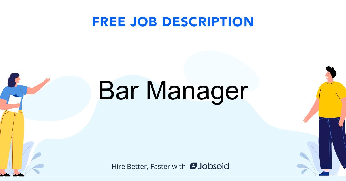 Bar Manager Job Description Template - Jobsoid