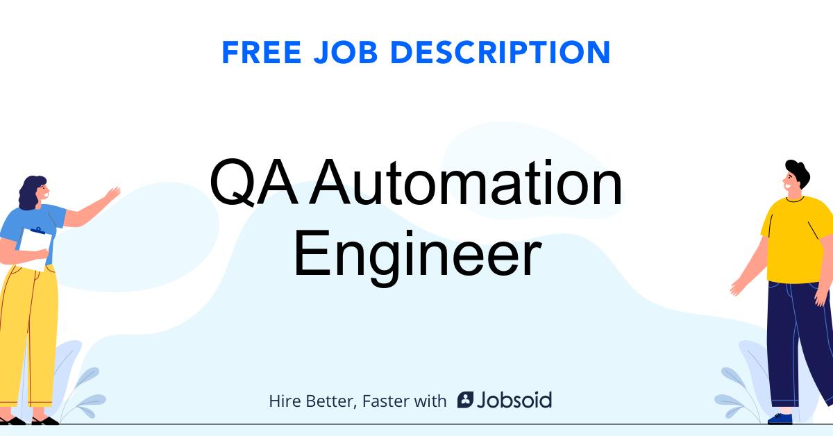 QA Automation Engineer Job Description Template - Jobsoid