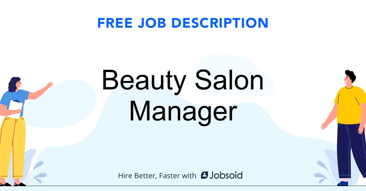 Beauty Salon Manager Job Description - Image