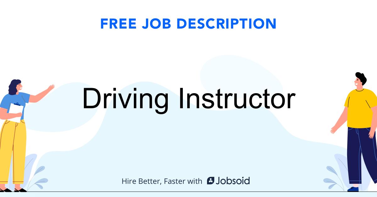 Driving Instructor Job Description Template - Jobsoid