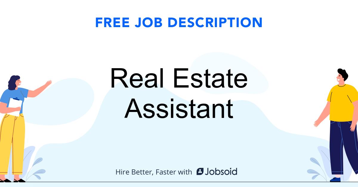 Real Estate Assistant Job Description Template - Jobsoid