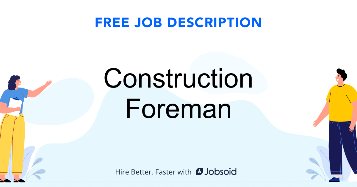 Construction Foreman Job Description - Image