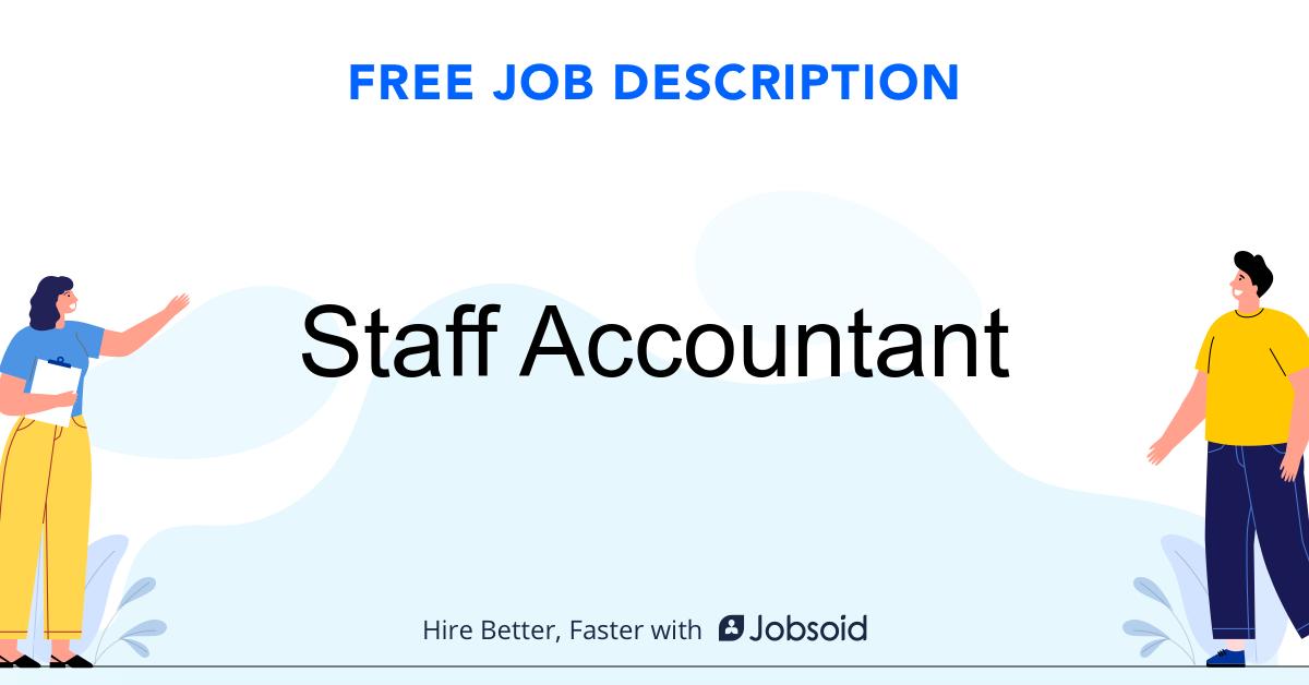 Staff Accountant Job Description Template - Jobsoid