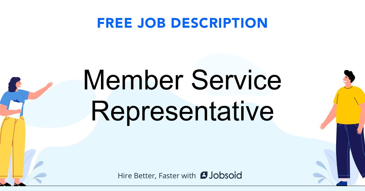 Member Service Representative Job Description Template - Jobsoid