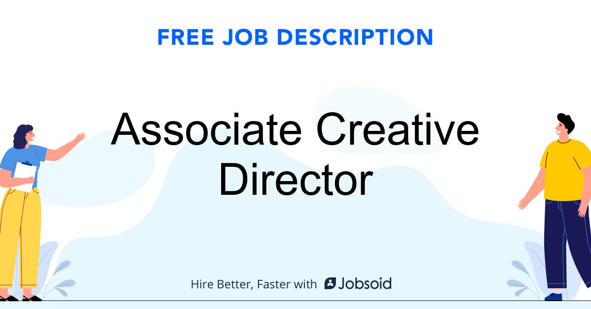 Associate Creative Director Job Description Template - Jobsoid