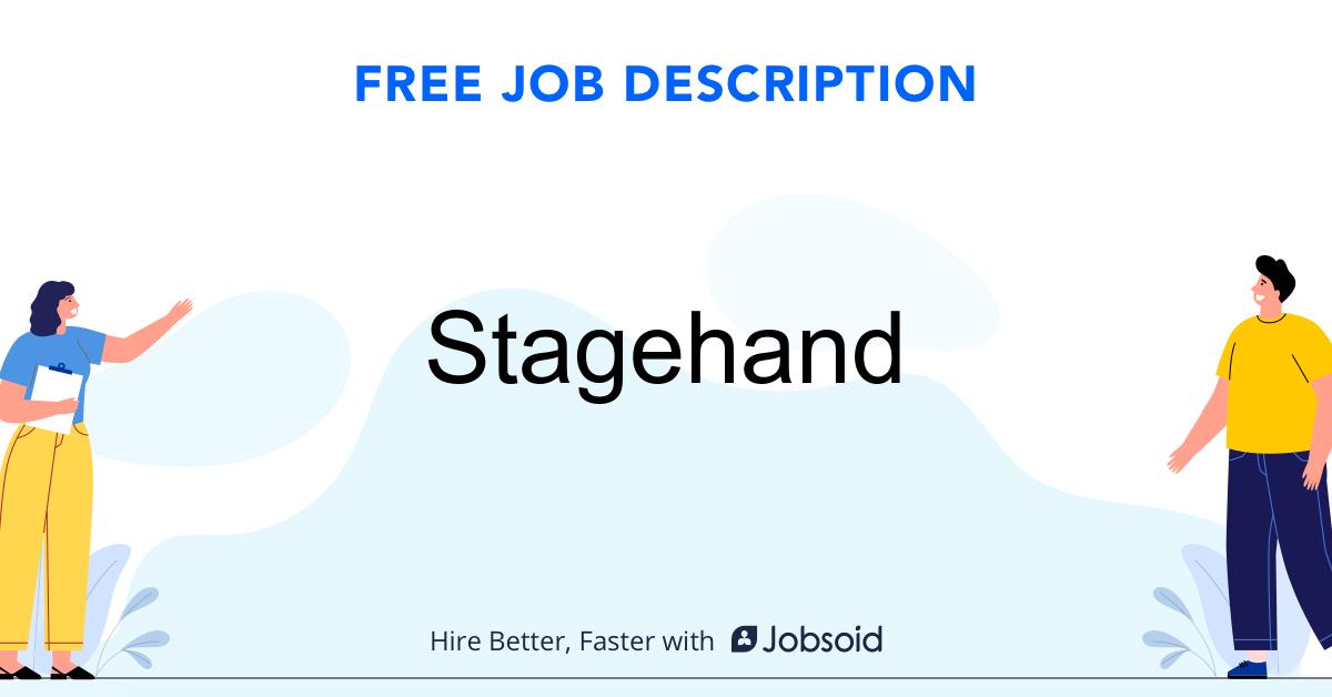 Stagehand Cook Job Description - Image