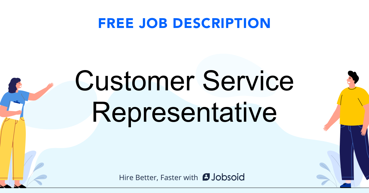 Customer Service Representative Job Description - Image