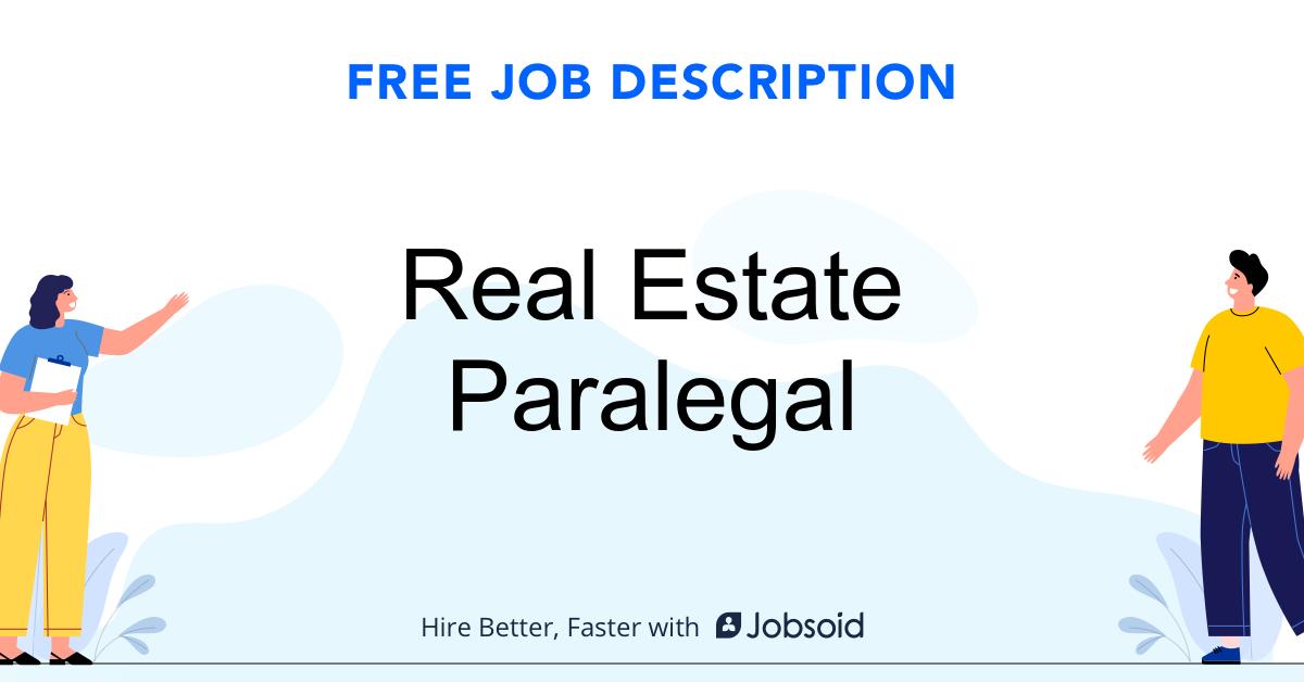 Real Estate Paralegal Job Description - Image