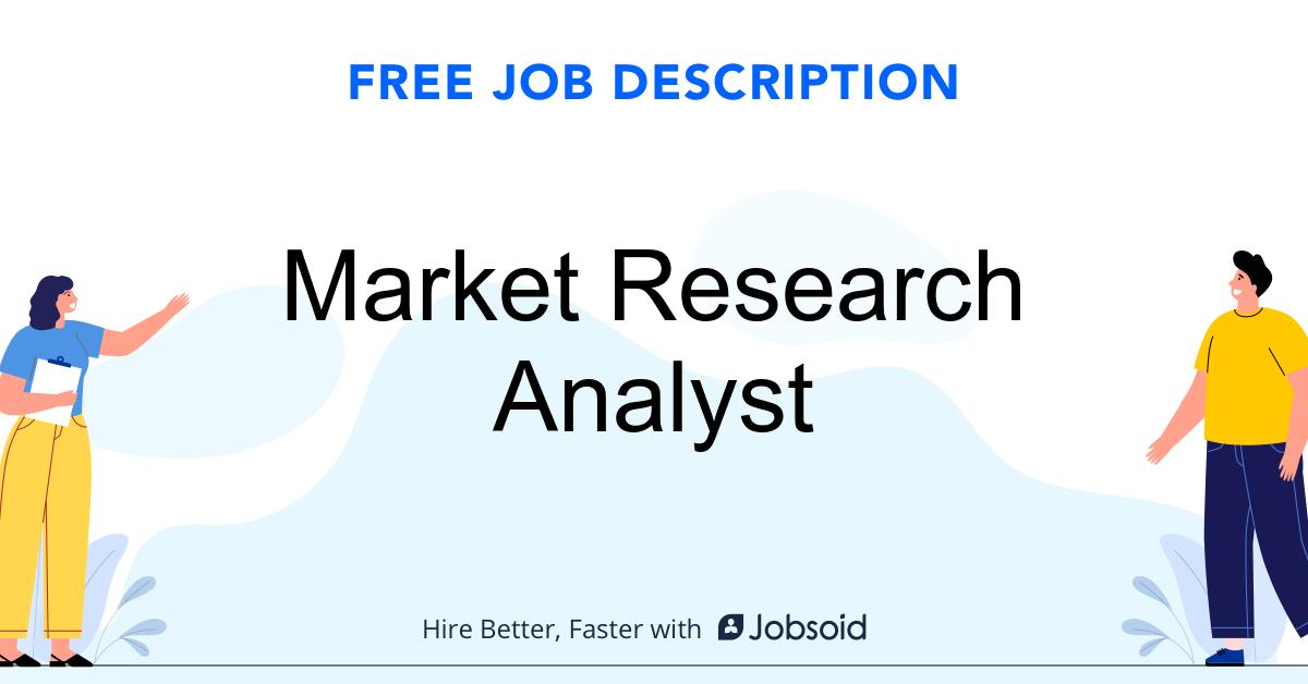 Market Research Analyst Job Description - Image