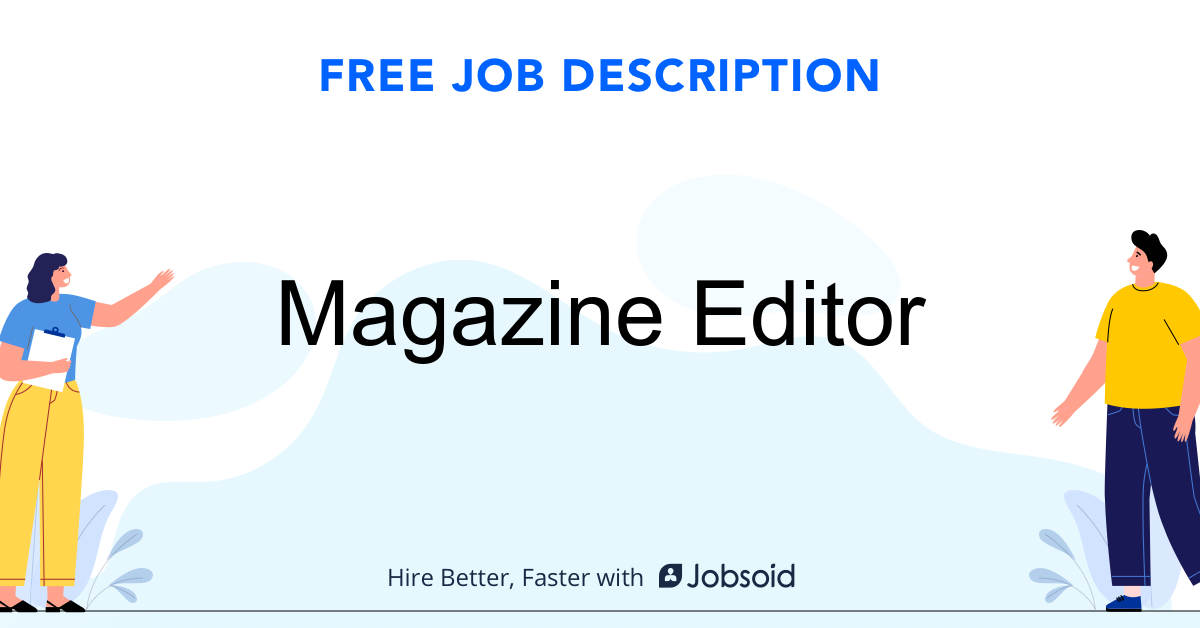 Magazine Editor Job Description - Image