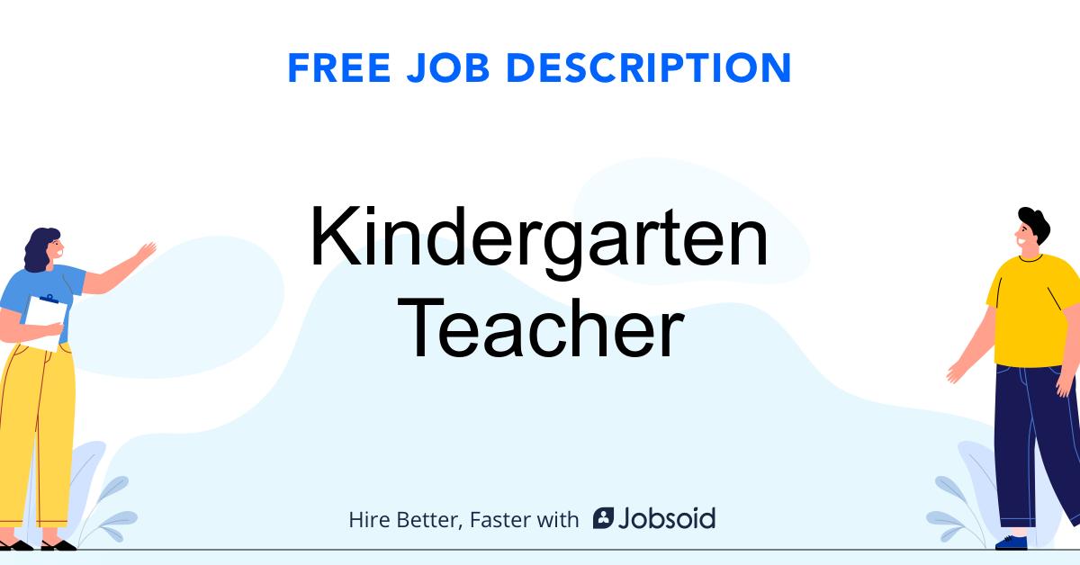 Kindergarten Teacher Job Description - Image