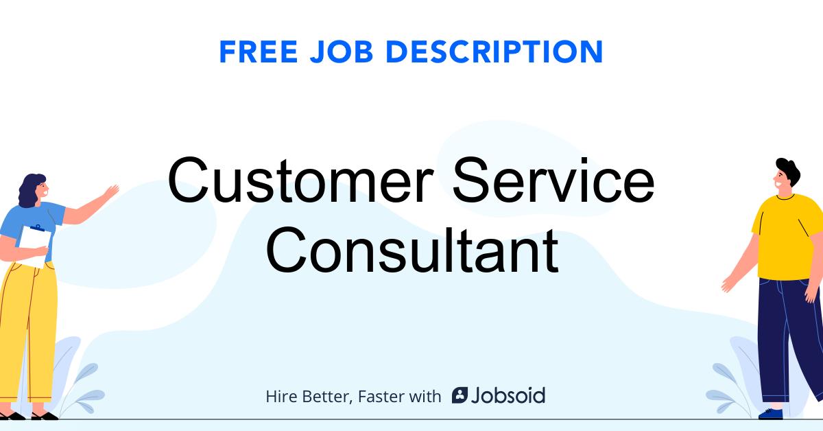 Customer Service Consultant Job Description - Image