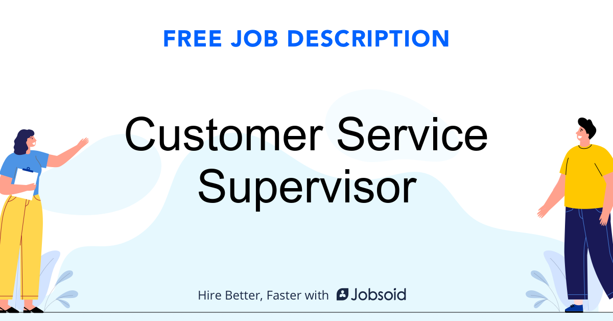 Customer Service Supervisor Job Description - Image
