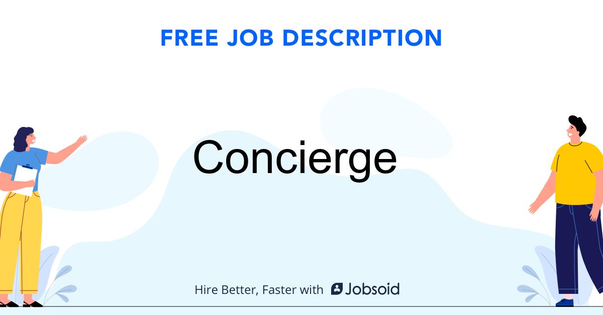 Concierge Job Description - Image