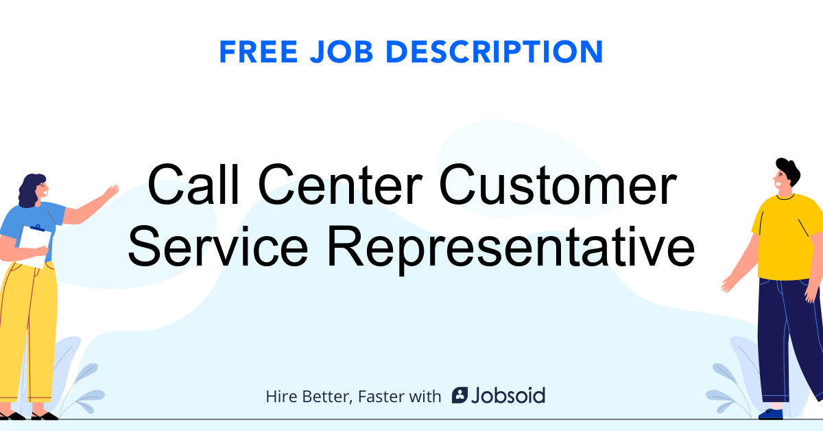 Call Center Customer Service Representative Job Description - Image